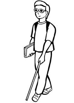 A Disabled Young Man Eager To Run Its Activities Coloring Pages - Disabilities day Coloring Pages : KidsDrawing – Free Coloring Pages Online...