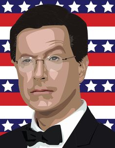 Design of the Day:  Are you a fan of the Colbert Report? Platt student Sean Carnley showed his love for the show by creating this Vector portrait of Stephen Colbert using Adobe Illustrator. Nice work Sean!