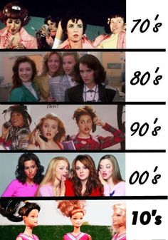 Mean chicks by decade...Grease, Heathers, Clueless, Mean Girls...and now the Most Popular Girls in School