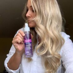 """🚨 Real Review 🚨: """"The spray is amazing! It moisturizes dry, dull ends, adds shine, and protects against further heat damage. It's a winner!"""" — @themattiesue. 🤩 Pick up the #ShimmerLights Thermal Shine Spray and #KeepUpYourBlonde at home. 🏠💜 Add it to your basket in-store and online at @ultabeauty! #ClairolProfessional Shine Spray, Shimmer Lights, Heat Damage, Moisturizer, Basket, Store, Amazing, Collection, Moisturiser"""
