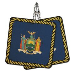 New York State Flag Wood MDF 4' x 4' Mini Signs Gift Tags >>> Click image for more details.