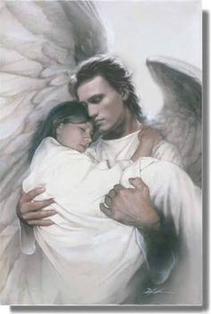 Image result for image showing angel wings wrapped around a sick person