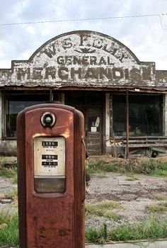 Old Gas Station In Cogar, Oklahoma