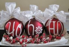 Super Easy DIY Christmas Decor Ideas - Berries and Bows - Click Pic for 25 Christmas Craft Ideas