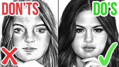 DO'S & DON'TS, How To Draw a Face, Realistic Drawing Tutorial Step by Step – Hildur.K.O