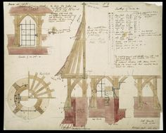 Image of design for red house showing a well-covering, by philip webb for william morris drawing. england, by V&A Images Arts And Crafts For Adults, Arts And Crafts House, Home Crafts, Architecture Design, Movement Architecture, Historic Architecture, Art Nouveau, William Morris Art, Arts And Crafts Storage