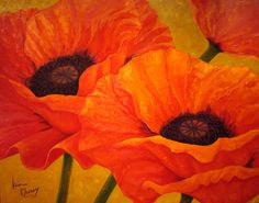 6 Image detail for -... painting on gallery wrapped canvas brilliant giant poppies on a field