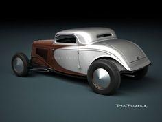 bonneville speedweek 1933-34 Ford coupes | A Garagem Digital de Dan Palatnik | The Digital Garage ...