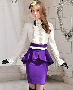 Morpheus Boutique  - Purple Pleated Hem Banded Lady Trendy Skirt, $59.99 (http://www.morpheusboutique.com/purple-pleated-hem-banded-lady-trendy-skirt/)