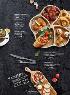 Menue Design, Food Menu Design, Tapas Menu, Food Banner, Vietnamese Recipes, Cake Shop, Menu Cards, Food Styling, Layout Design