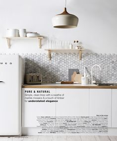 8 Reliable Tips: Small Kitchen Remodel Floor Plans cheap kitchen remodel window treatments.Small Kitchen Remodel Floor Plans mobile home kitchen remodel on a budget. New Kitchen, Kitchen Dining, Kitchen Decor, Kitchen White, Kitchen Styling, Design Kitchen, Kitchen Cabinets, Nordic Kitchen, Kitchen Shelves
