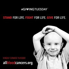 Mark your calendars and please share. Next Tuesday, December 1 is #GivingTuesday and LRF is taking the challenge to raise $15,000 in order to receive an additional $15,000 for blood cancer research. With your help, we can achieve our goal of wiping out all blood cancers for good. Please join our fight for life. #LRF4LIFE. #ILGIVE