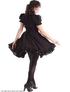 f37c6bee55998 Gothic Lolita Dress - Black Cotton Jumper Petite to Plussize - Underbust  Suspender Skirt -Custom to your size S-