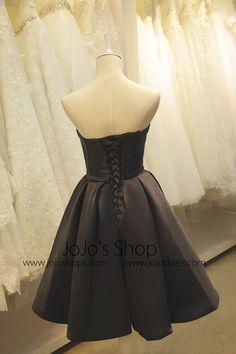 c2c1889d0d Little Black Satin Formal Dress
