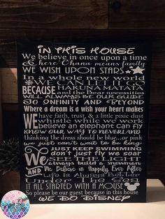 WE DO DISNEY House Rules Large Sign Sale Art Print Canvas