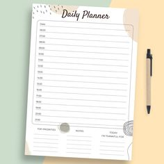 Daily Schedule Template, Planner Template, Notes, How To Plan, Report Cards, Notebook