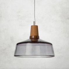 Industrial - dreizehngrad - Pendelleuchte - Holz - Glas …