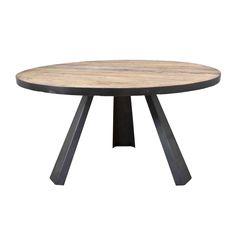 Tafel Lifestyleis een opvallende ronde tafel afgewerkt met een zwart metalen rand en zwart metalen poten. Maat H78 x B152. Ook rechthoekig leverbaar. Delen