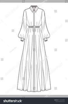 to drawing dresses Dress Fashion Technical Drawings Vector Template Stock Vector (Royalty Free) 1223234605 Fashion Model Drawing, Fashion Drawing Dresses, Fashion Design Drawings, Fashion Sketches, Fashion Dresses, Fashion Clothes, Fashion Flats, Drawings Of Dresses, Croquis Fashion