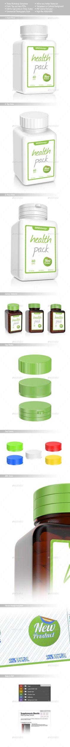 Pills Bottle Mockup. Download here: http://graphicriver.net/item/pills-bottle-v2-mockup/15888213?ref=ksioks