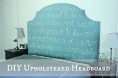One of a Kind DIY Upholstered Headboard