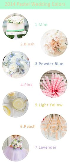 """love the idea of pastel weddings though it may look """"baby showery"""" but looove :( 