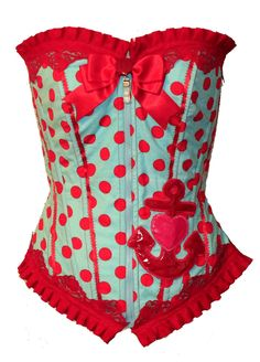 Rockabilly Candy Anchor Corset.