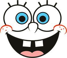 Popular Spongebob Faces, Spongebob Birthday Party, 9th Birthday, Spongebob Halloween, Spongebob Outline, Wallpaper Iphone Cute, Cute Wallpapers, Square Drawing, Face Outline