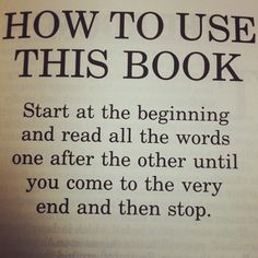 How to read.