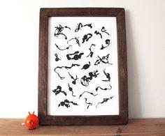 Seaweed Screenprint, Seaside Print, Beach Print by hello DODO, £25.00