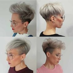 40 Gorgeous Short Pixie Cut Hairstyles 2019 - - Short Hairstyles - Hairstyles 2019 On the off chance that you have extremely fine hair, it's anything but difficult to feel like you're constrained with the haircuts that you can work with. Short Pixie Haircuts, Cool Haircuts, Pixie Hairstyles, Short Hair Cuts, Curly Hair Styles, Cheveux Courts Funky, Pixie Cut Kurz, Best Pixie Cuts, Haircut For Thick Hair