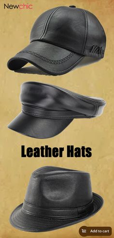 How to pick one good leather hat? Shop Newchic.com and buy the ones that fits you. #mens #leatherhats #leathercaps #hats #caps #fashion #style #accessories #mensaccessories Fancy Tie, Urban Fashion, Mens Fashion, Leather Hats, Cool Gear, Hat Shop, Outdoor Outfit, Fun To Be One, Hats For Men