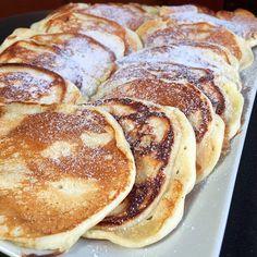 Pille könnyű amerikai palacsinta - GastroHobbi Nutella, Meal Planning, Pancakes, Food And Drink, Low Carb, Snacks, Baking, Breakfast, Sweet