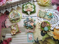 Once Upon a Spring Handmade Scrapbook by mydivineinspiration, $5.25