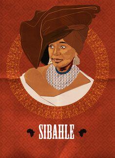 """We Are Beautiful"" - Artist Ruramai 'Rudo' Musekiwa Celebrates Phenomenal African Women With Her 'Sibahle' Poster Series - AFROPUNK African History, Women In History, Black History, African Women, African Art, Mandela Art, Nelson Mandela, Famous Black People, Winnie Mandela"
