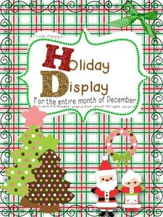 Month Long Holiday Wall Display Posters for December  $