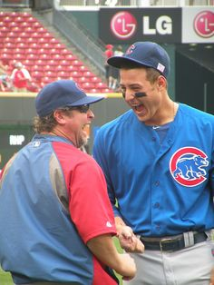 chicagocubs: Anthony Rizzo has some fun before today's Cubs vs. Cute Baseball Players, Cubs Baseball, Reds Game, What's So Funny, Cubs Win, Go Cubs Go, Love My Man, Hello Gorgeous, Chicago Cubs