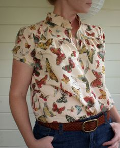 butterfly blouse   Flickr - Photo Sharing!