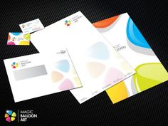 Logo, briefpapier en enveloppe ontwerp voor ballonkunstenaar