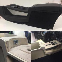 Audio rooms ideas on Instag - audiorooms Custom Car Interior, Truck Interior, Custom Car Audio, Custom Cars, Custom Center Console, Diy Camper Trailer, Automotive Upholstery, Car Console, Custom Consoles