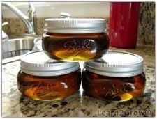 "Basic Herb Jelly:  ""The following herbs or their flowers can be used in this recipe: scented basils, beebalm, chamomile, chive blossom, fennel, garlic, ginger, lavender, lemon thyme, lemon verbena, marjoram, mint, parsley, rosemary, rose petals (white heel removed), savory, scented geranium, sweet woodruff, tarragon or thyme""  (As always, double check canning recipes for safety:  altitude, etc.)"