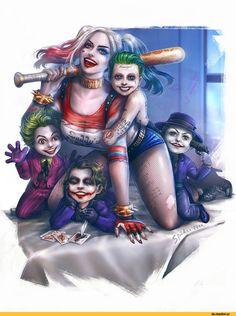 art,арт,красивые картинки,DC Comics,DC Universe, Вселенная ДиСи,фэндомы,Harley Quinn,Харли Квинн, Харлин Квинзель,Joker,Джокер, Клоун-принц преступного мира,Taweesak Riwsuksan,Suicide Squad (фильм),Отряд самоубийц,DC Extended Universe,Расширенная вселенная ДиСи,The Dark Knight,Темный Рыцарь,The