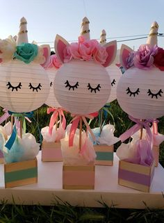 Cute Unicorn Centerpiece Part Decor Decoration Kids Party SuppliesWhat cute centerpieces for a unicorn themed kid birthday party or baby shower! If you're looking for easy and fun decorations, these is a great choice!Nice Party Games For Teenagers Party Unicorn, Unicorn Themed Birthday Party, Unicorn Baby Shower, Birthday Party Decorations, Birthday Ideas, Girl Shower, 5th Birthday, Purple Birthday, 3rd Birthday Party For Girls
