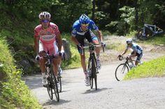 Ryder Hesjedal and Joachim Rodriguez on stage twenty of the 2012 Giro d'Italia (Watson)