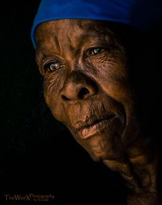 African Portrait - In Thought by Trudie Vermaak
