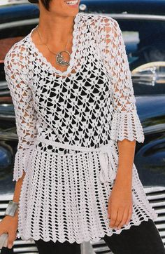 Crochet Tunic with pattern