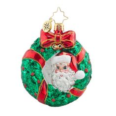 Christopher Radko Ornament - Peek - A - Boo Santa Gem