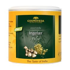 Køb Ingefær pulver Økologisk - 80 gram - Cosmoveda - Gratis levering