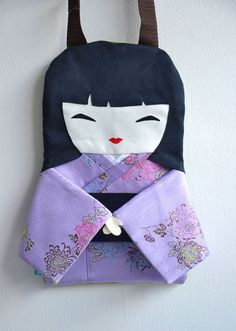 Japanese Doll bag in Lilac by NinuMiluBagDolls