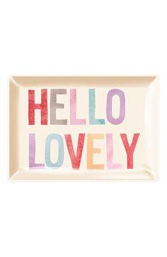 Fringe Studio 'Hello Lovely' Glass Trinket Tray available at #Nordstrom